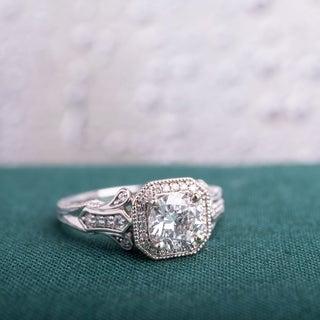 Miadora 14k White Gold 1 1/4ct TDW Vintage Diamond Ring (G-H,I1-I2)