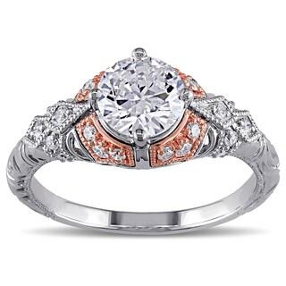 Miadora 14k Two-tone Gold 1 1/4ct TDW Vintage Diamond Ring (G-H, I1-I2)