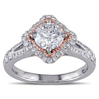 Miadora 14k Two-tone Gold 1 1/2ct TDW Diamond Engagement Ring (E-F, I1-I2)