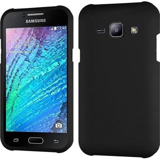 Insten Black Hard Slim Snap-on Rubberized Matte Phone Case Cover For Samsung Galaxy J1