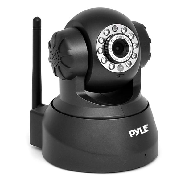 Pyle PIPCAM25 Pan/ Tilt Wireless IP Wi-Fi Camera with Remote Surveillance Monitoring