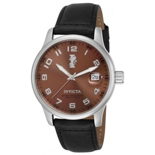 Invicta I-Force Men's Copper-tone Stainless Steel Black Leather Strap Watch