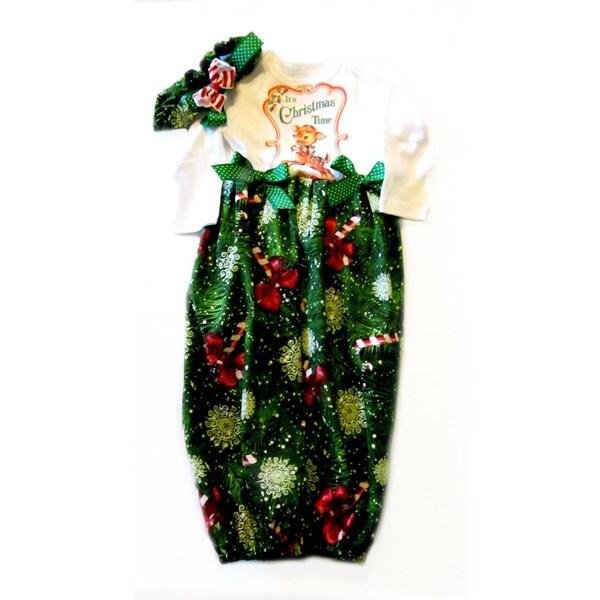 Christmas Baby Girl Infant Gown Sleeping Sack