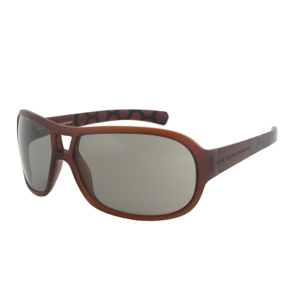 Porsche Design P8537 D Sport Sunglasses, Brown Frame, Grey Lens