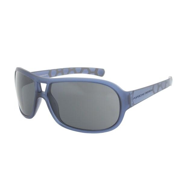 Porsche Design P8537 B Sport Sunglasses - Opaque Blue Frame