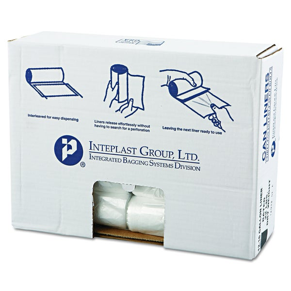 Inteplast Group Clear 16 gal 24 x31 High-Density Can Liners (20 Rolls of 50 Liners)
