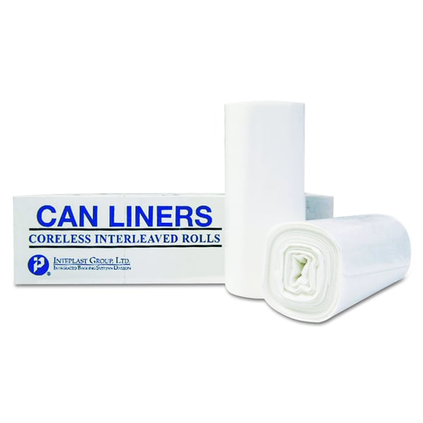 Inteplast Group Clear 55-Gallon 36 x 58 High-Density Can Liner (Case of 200)