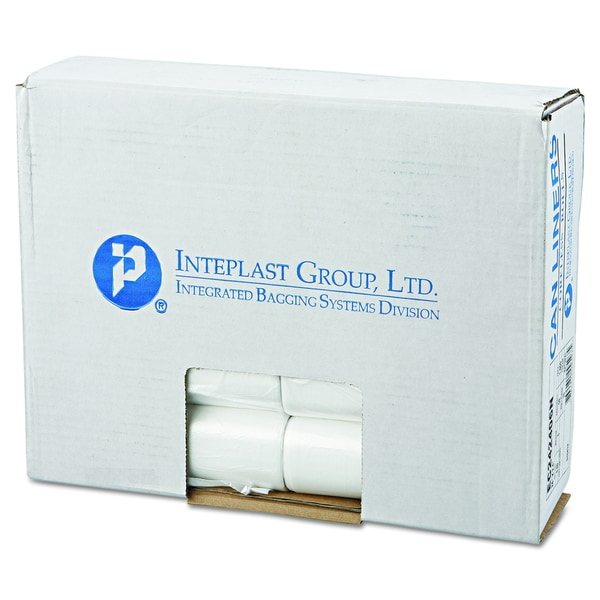 Inteplast Group Natural 10gal 24 x 24 Commercial Can Liners (Pack of 1000)