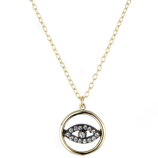 Brass Petite Gold Evil Eye Necklace