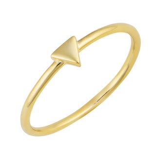 Fremada 14k Yellow Gold Over Sterling Silver Mini Triangle Ring (size 5 - 8)