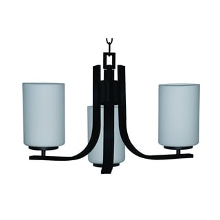 Yosemite Home Decor Bronze Panorama Trail Collection 3-light Steel Chandelier