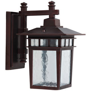 Yosemite Home Decor Clear Glass Oil Rubbed Bronze 1-light Outdoor Wall Fixture