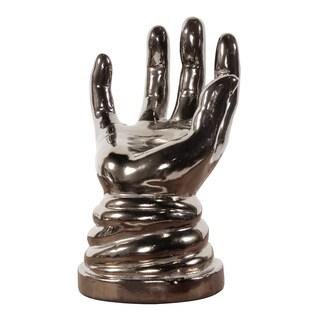 Allan Andrews Metallic Open Hand Sculpture