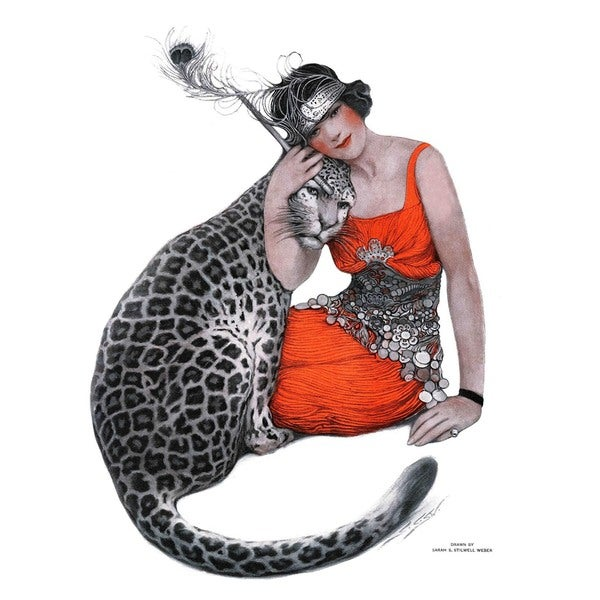 "Marmont Hill - ""Lady and Leopard"" by Sarah Stilwell-Weber Painting Print on Canvas"