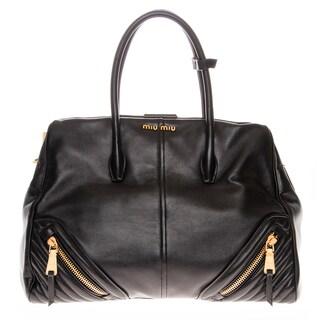 Miu Miu Nappa Leather Biker Satchel Bag