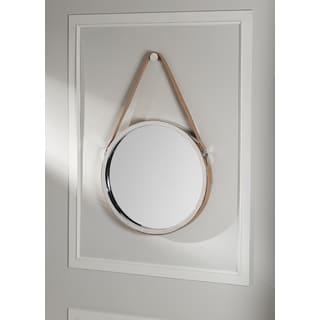 Wellington Leather Frame Mirror- Tan