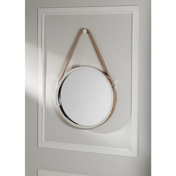 Wellington Leather Frame Mirror- Tan