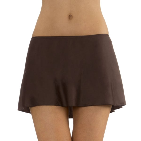 Mazu Swim Brown A-Line Swimsuit Skirt