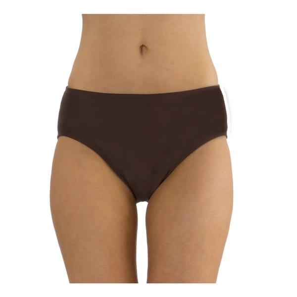 Mazu Swim Brown Mid Waist Swimsuit Brief