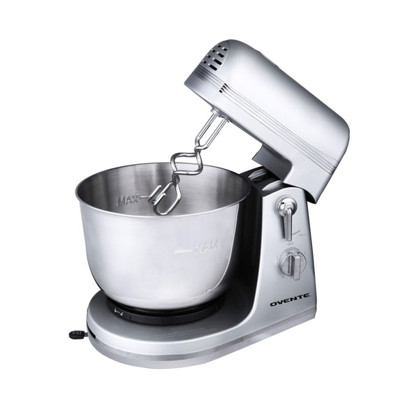 Ovente SM880 Silver 3.7-quart 6-speed Professional Stand Mixer