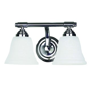 Yosemite Home Decor Frosted Glass Shade Chrome 2-light Vanity