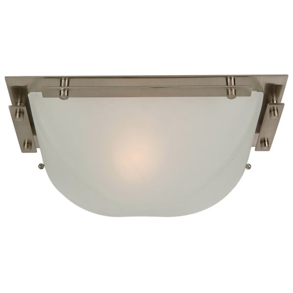 Yosemite Home Decor Frosted Glass Shade Nickel 1-light Wall Sconce