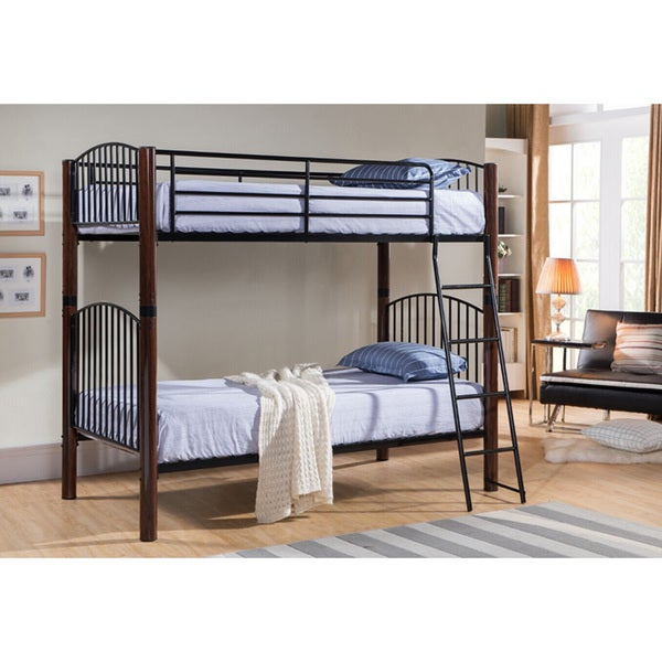 K & B B7032 Twin Bunk Bed