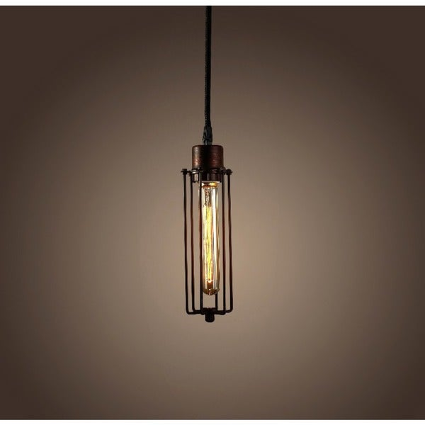 Susanna 1-light Antique-style Elongated Edison 10-inch Pendant
