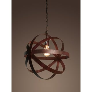 Tabitha 1-light Rusty-style 16-inch Edison Chandelier with Bulb