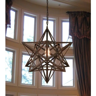 Tamar 1-light Rusty-style Edison 20-inch Chandelier with Bulb