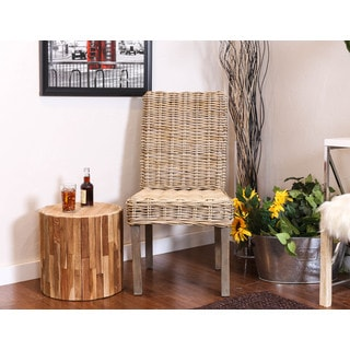 Somette Emporia Indoor/Outdoor Rattan Armless Dining Chair