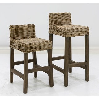 Somette Rayne Indoor/ Outdoor Rattan 24-inch/ 30-inch Counter/ Bar Stool