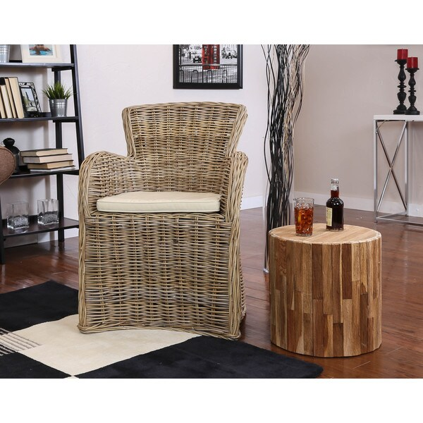 Somette Vivan Indoor/Outdoor Rattan Dining Chair