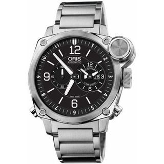Oris Men's 69076154164MB 'BC4' Automatic Chronograph Silver Stainless steel Watch