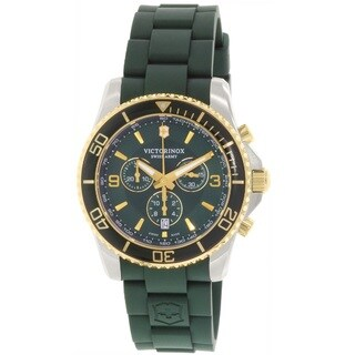 Victorinox Swiss Army Men's 241694 'Maverick' Chronograph Green Rubber Watch