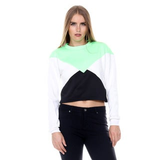 Stanzino Women's Colorblock Cropped Sweater Top