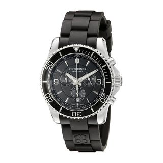 Victorinox Swiss Army Men's 241696 'Maverick' Chronograph Black Rubber Watch