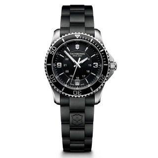 Victorinox Swiss Army Unisex 241702 'Maverick' Black Rubber Watch