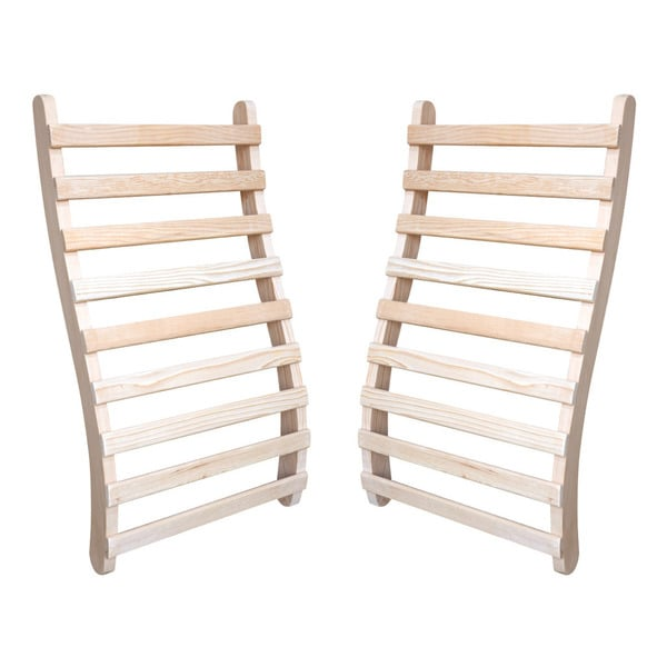 Solid Hemlock Universal Sauna Back Rests (Set of 2)