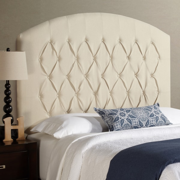 Humble + Haute Halifax Tall Full Size Ivory Curved Upholstered Headboard