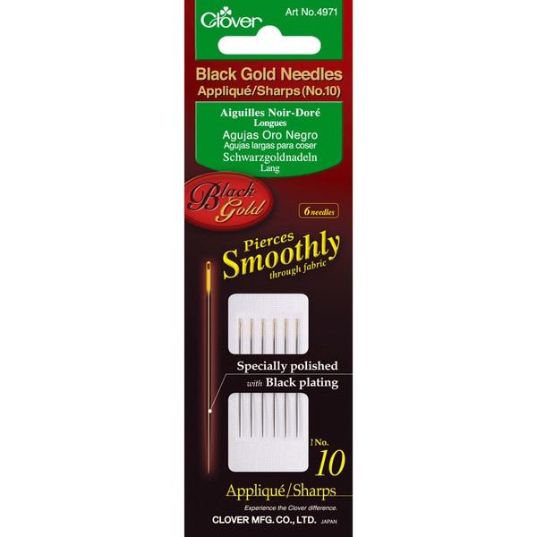 Black Gold Applique/Sharps NeedlesSize 10 6/Pkg