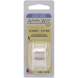 Artistic Wire 28 Gauge 15ydNonTarnish Silver
