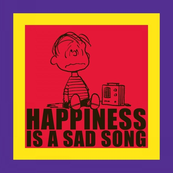 "Marmont Hill - ""Happiness is a Sad Song"" Peanuts Print on Canvas"