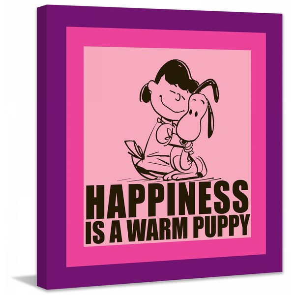 "Marmont Hill - ""Happiness is a Warm Puppy"" Peanuts Print on Canvas 16110234"