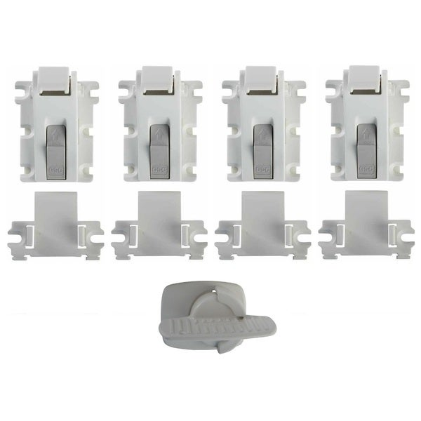 Kidco Magnetic Lock Plus Key and Holder (Pack of 4)