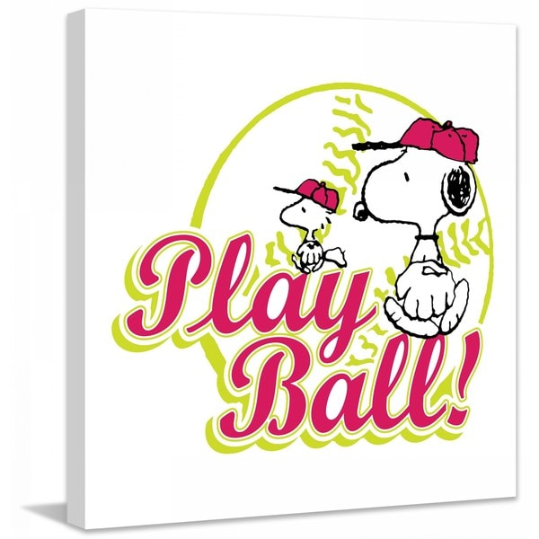 "Marmont Hill - ""Play Ball"" Peanuts Print on Canvas"