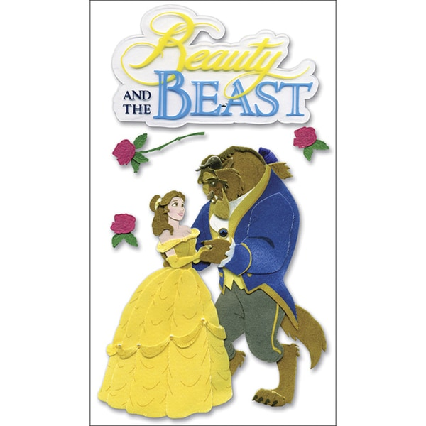 Disney Dimensional StickersBeauty & The Beast