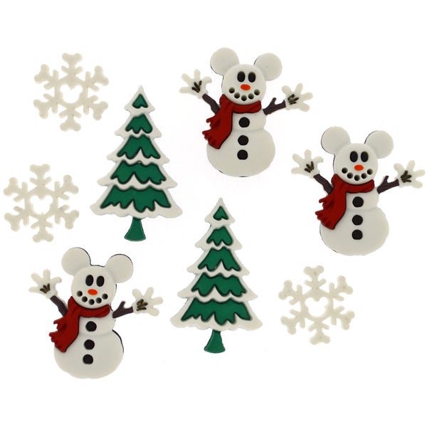 Dress It Up Licensed EmbellishmentsDisney Mickey Snowmen