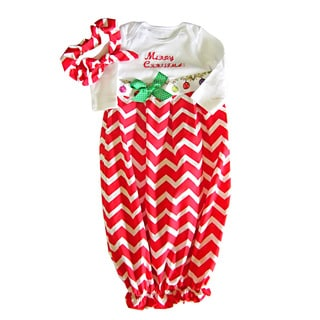 Baby Girl Christmas Infant Layette Gown