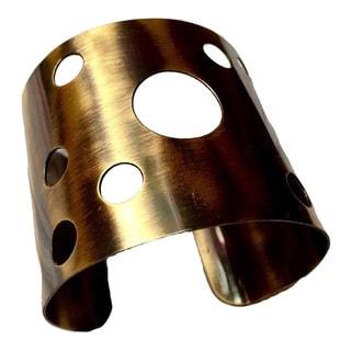 Handmade Oxidized Brass Cuff (India)